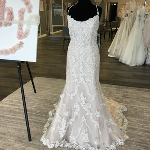 Maggie Sottero Ivory/Champagne/Silver Lace/Sequin/Tulle 8mc731ac Riley Marie Formal Wedding Dress Size 18 (XL, Plus 0x)
