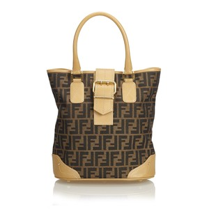 Fendi 9cfnto036 Vintage Blend Leather Tote in Brown