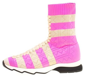 Fendi Striped Pink Boots