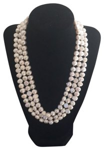 Kenneth Jay Lane Triple Strand Cultured Pearl