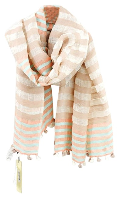 Item - Tan/ White By Amahlia Stevens #159-65 Scarf/Wrap