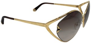 8e010218ac Louis Vuitton Gold-tone metal Louis Vuitton Laurel logo sunglasses