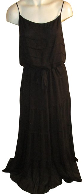 Item - Black Tiered Maxi Long Night Out Dress Size 8 (M)