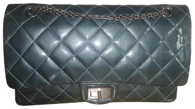 Item - 2.55 Reissue Classic Flap Jumbo Classic Double Gray Patent Leather Shoulder Bag