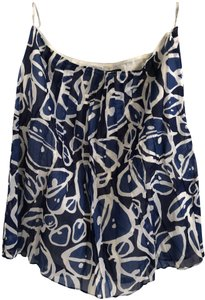Lafayette 148 New York Designer Full Ny Skirt White and Blue