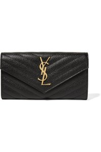 Saint Laurent Ysl Monogram Wallet New black Clutch