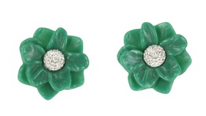 Lele Sadoughi Oversized Gardenia Earrings
