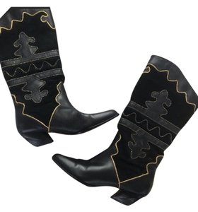 PAZZO Black, Gold Boots