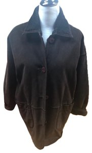 Searle Genuine Suede Lined Reversible Large Pockets High Collar Fur Coat