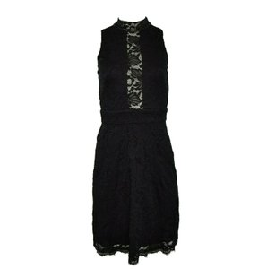 8c30e2abc9 Betsy   Adam Mock Lace A-line Sleeveless Dress