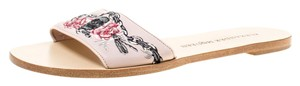 Alexander McQueen Embroidered Leather Pink Flats