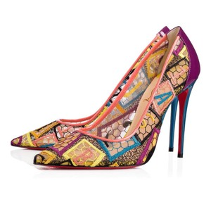 Christian Louboutin So Kate Nude Patent Patent Leather Multi Pumps
