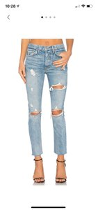 GRLFRND Straight Leg Jeans-Light Wash