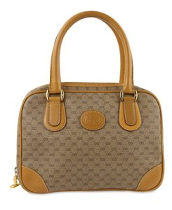 Gucci Vintage Micro Gg Satchel in Brown