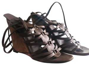 Yves Saint Laurent Safari Kaki Wedges