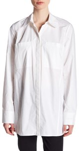Rachel Roy Longsleeve Button Down Shirt white