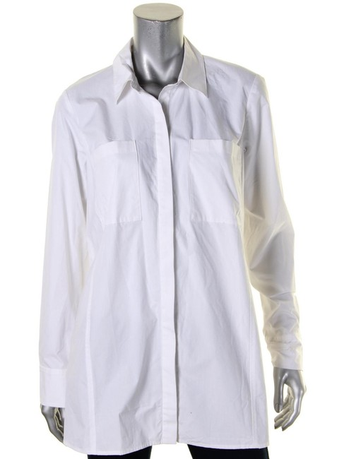 Rachel Roy Longsleeve Button Down Shirt white Image 2