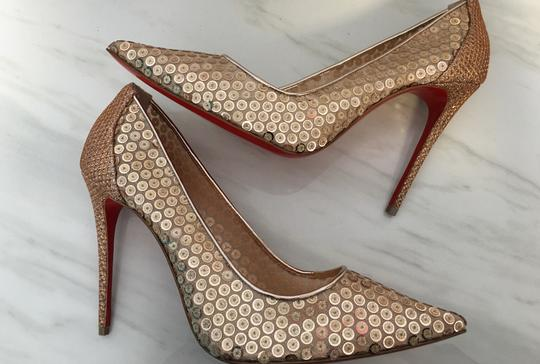 Christian Louboutin So Kate Nude Patent Patent Leather Rose Gold Pumps Image 2