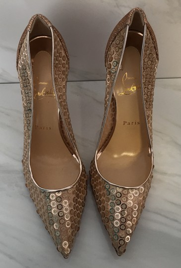 Christian Louboutin So Kate Nude Patent Patent Leather Rose Gold Pumps Image 4
