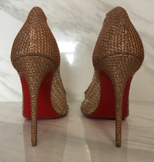 Christian Louboutin So Kate Nude Patent Patent Leather Rose Gold Pumps Image 7