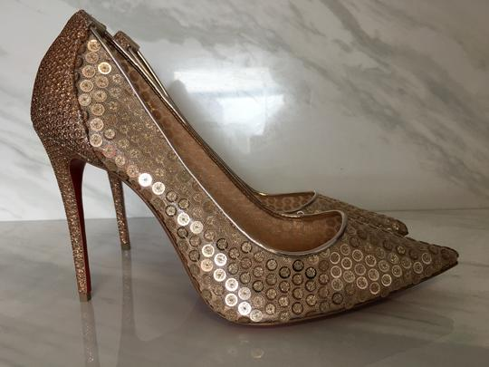 Christian Louboutin So Kate Nude Patent Patent Leather Rose Gold Pumps Image 8
