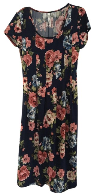 Preload https://img-static.tradesy.com/item/25317427/ny-collection-blue-printed-floral-short-casual-dress-size-petite-8-m-0-1-650-650.jpg