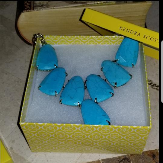 Kendra Scott Harlow Teal statement necklace Image 1