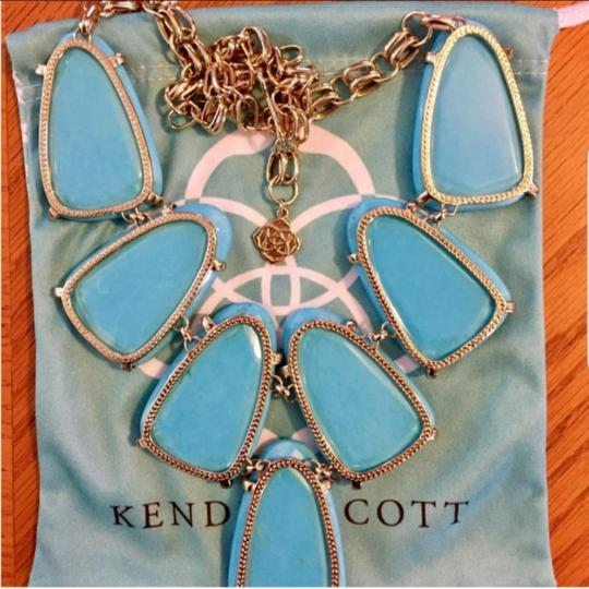 Kendra Scott Harlow Teal statement necklace Image 3