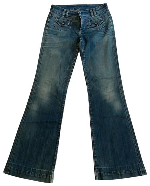 Item - Distressed Chic Flare Leg Jeans Size 4 (S, 27)