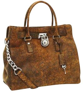 Michael Kors Antiqued Vintage Rare Suede Soft Tote in Distressed Mocha Brown Silver