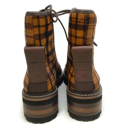 See by Chloé Tartan Brown Boots Image 7