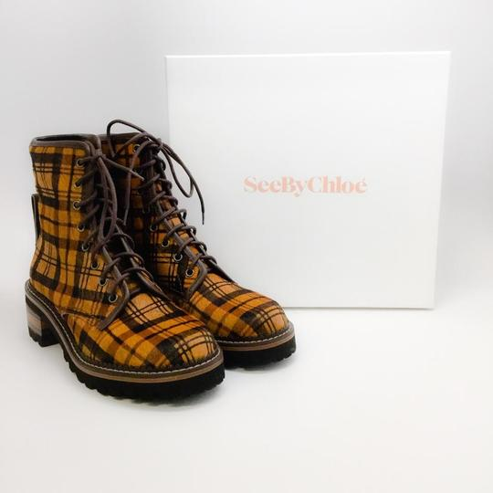 See by Chloé Tartan Brown Boots Image 9
