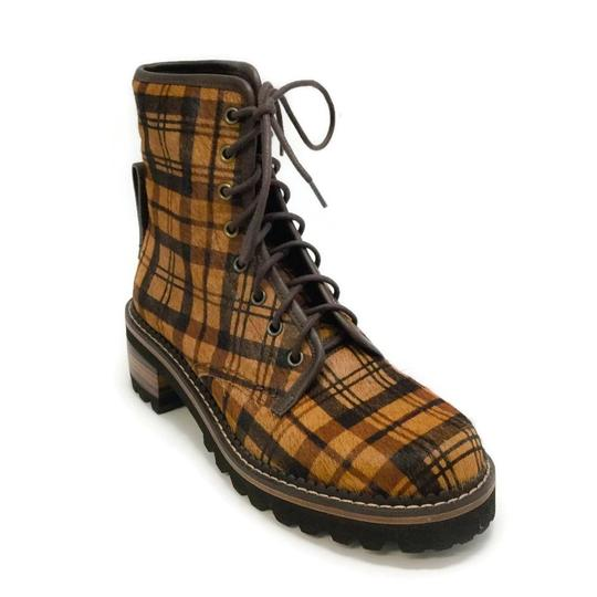 See by Chloé Tartan Brown Boots Image 0