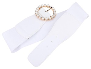Other Pearl Circle Buckle Elastic Stretch Belt