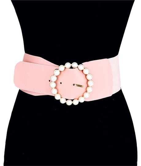 Preload https://img-static.tradesy.com/item/25317656/pink-pearl-circle-buckle-elastic-stretch-belt-0-1-540-540.jpg