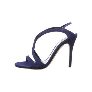 Alexander McQueen Skulls Midnight Blue Sandals