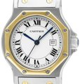 Cartier Cartier Santos Octagon Mens Unisex Watch, Automatic - Stainless Steel Image 0