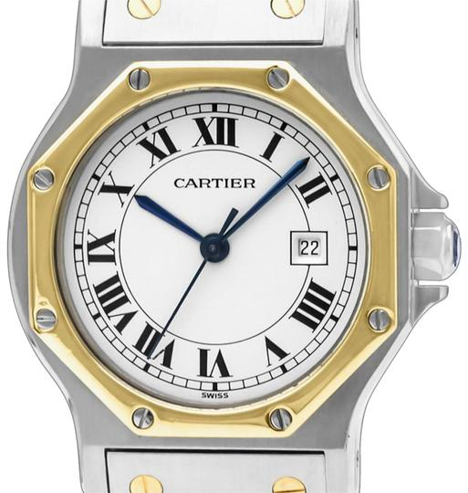 Preload https://img-static.tradesy.com/item/25317703/cartier-white-santos-octagon-mens-unisex-stainless-steel-watch-0-1-540-540.jpg