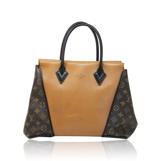 Preload https://img-static.tradesy.com/item/25317735/louis-vuitton-w-tote-brownsaddle-canvasleather-shoulder-bag-0-1-540-540.jpg