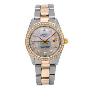 Rolex Rolex Oyster Perpetual Date 1500 34MM Mother of Pearl Dial