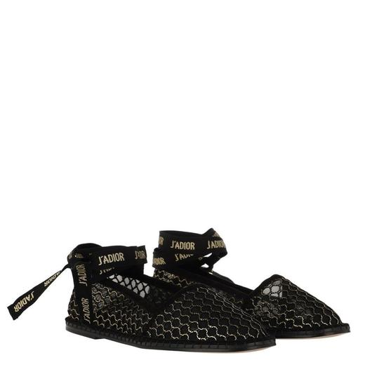 Preload https://img-static.tradesy.com/item/25317807/dior-black-nicely-d-miss-j-adior-ribbon-gold-mesh-wrap-around-espadrilles-flats-size-eu-395-approx-u-0-1-540-540.jpg