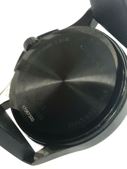 Gucci Gucci Tiger Head Dial Swiss Black Rubber Band 38mm Unisex Watch RARE Image 4