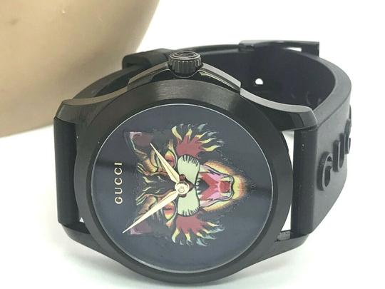 Gucci Gucci Tiger Head Dial Swiss Black Rubber Band 38mm Unisex Watch RARE Image 5