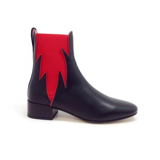 Francesco Russo Black / Red Boots Image 1