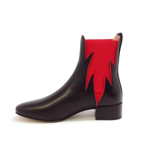 Francesco Russo Black / Red Boots Image 2