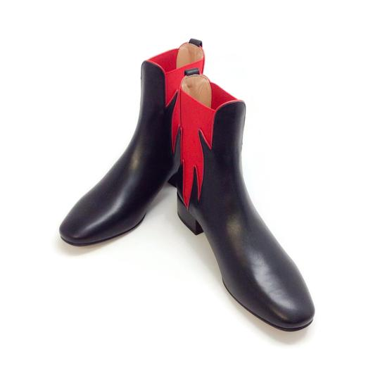 Francesco Russo Black / Red Boots Image 5