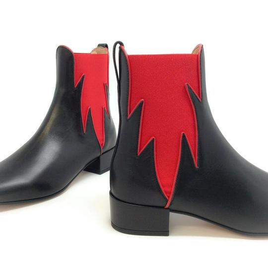 Francesco Russo Black / Red Boots Image 6