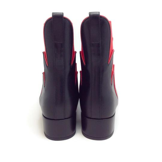 Francesco Russo Black / Red Boots Image 7