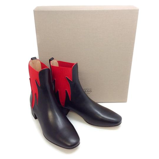 Francesco Russo Black / Red Boots Image 8