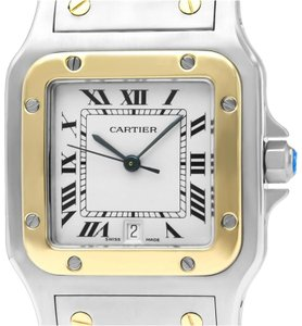 903d26f6199 Cartier Cartier Santos Galbee Mens Two-Tone Bracelet Watch with Date -  Stainle